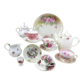 Vintage Mismatched Fine China Tea Set - 16 Pieces