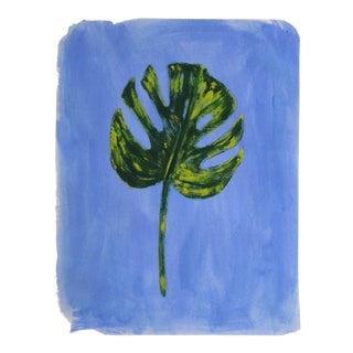 Contemporary Palm Leaf Tropical Botanic Painting by Cleo Plowden For Sale