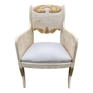 Art Deco Bleached Arm Chair For Sale