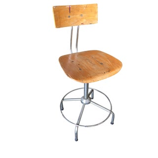 Bieffe Italian Chrome and Formed Birch Plywood Artist Drafting Work Chair Preview