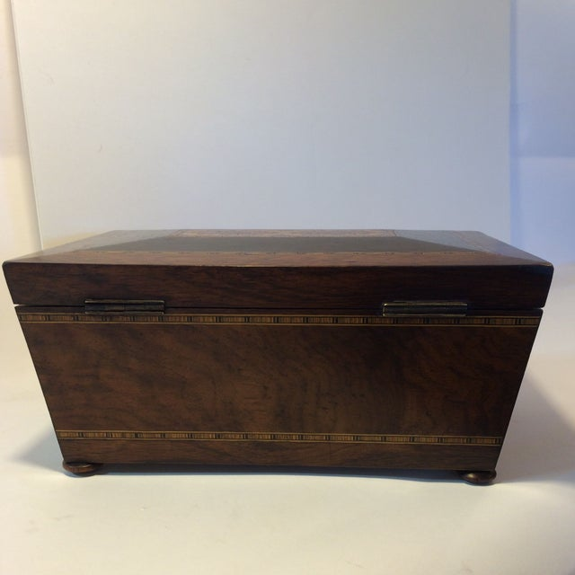 Brazilian Rosewood Double Tea Caddy - Image 4 of 7