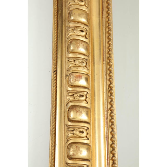 Gold Giltwood Louis Philippe Mirror For Sale - Image 8 of 9