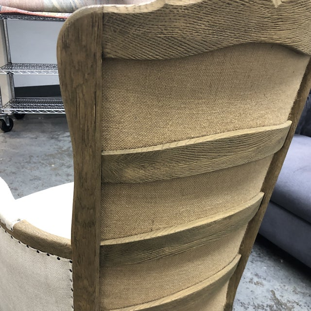 2010s Restoration Hardware 18th C. French Upholstered Bergere Chair For Sale - Image 5 of 13