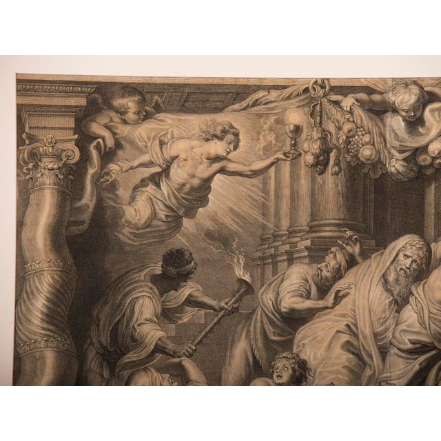 """Engraving """"The Triumph of Eucharistic Truth over Heresy"""", an engraving of the painting by Peter Paul Rubens c.1800. For Sale - Image 7 of 11"""