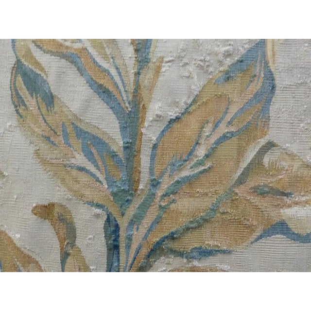 18th Century Floral Aubusson Panels, Set of Three For Sale - Image 9 of 11