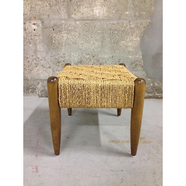Vintage Mid-Century Woven Rope Footstool - Image 5 of 8