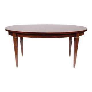 Regency-Style Walnut Oval Dining Table For Sale