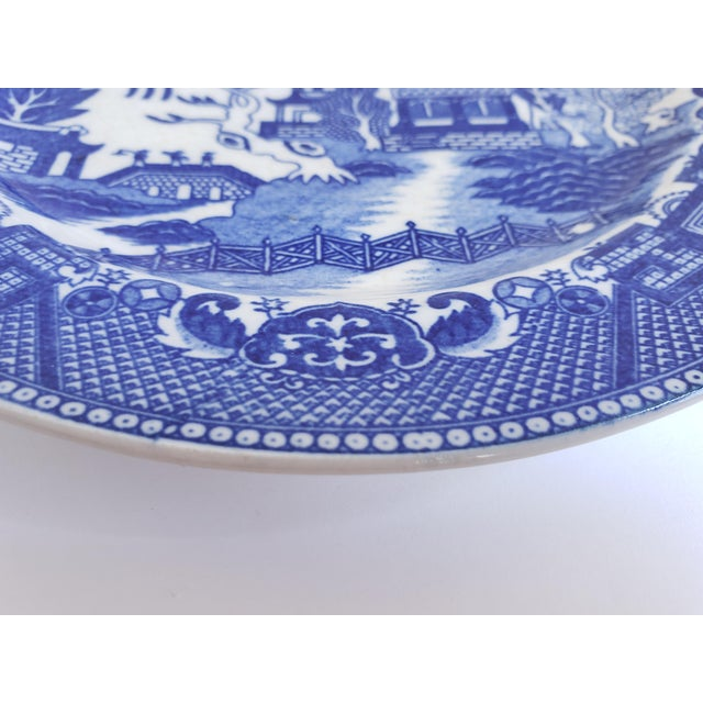 "Antique ""House of Blue Willow"" Made in Japan Dinner Plates-Set of 4 For Sale In New York - Image 6 of 13"