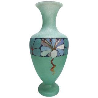 Biancalani Elio Graniglia Art Glass Vase From Florence, Italy For Sale