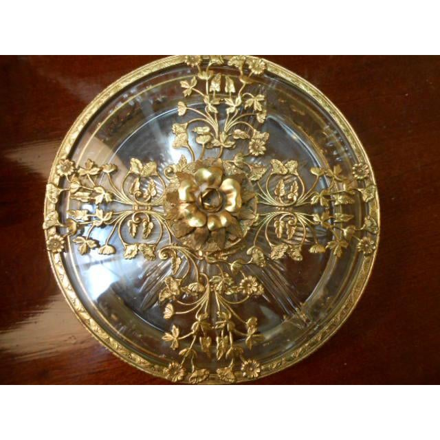 Antique Gold Ormolu Divided Dish For Sale - Image 9 of 10