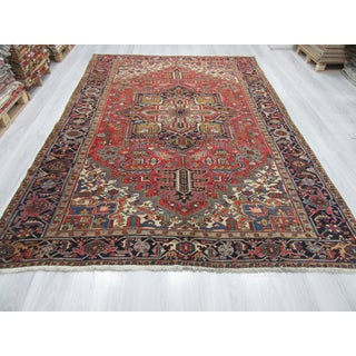 Large Vintage Persian Hareez Wool Rug - 7′9″ × 11′5″ Preview