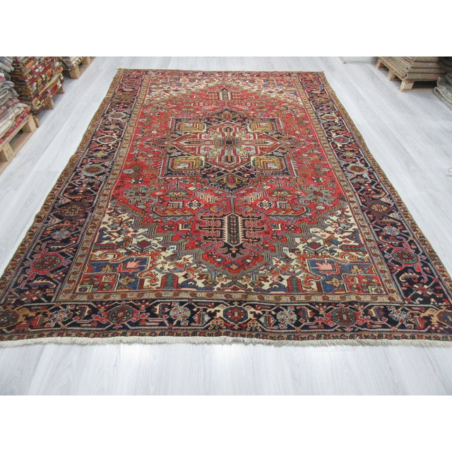 Vintage large Persian Hareez rug. Approximately 60-70 years old. In very good condition