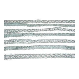 Brunschwig Et Fils Belluno Figured Gimp in Wave Textured Trellis Trim - 18-3/8y For Sale