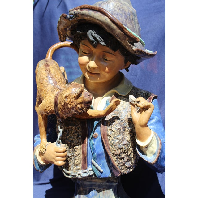 Late 19th C. Bruders Urbach Earthenware Sculpture For Sale - Image 12 of 12