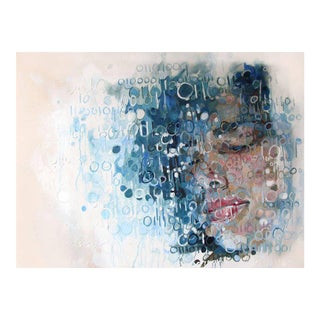 """Contemporary Portrait Oil Painting """"Components of Self"""" by Christina Major For Sale"""