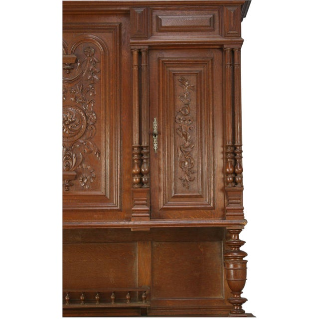 Antique French Renaissance Carved Buffet Server For Sale - Image 7 of 8