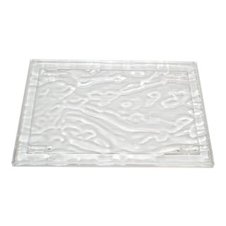 Kartell Mario Bellini Dune Rippling Clear Acrylic Tray For Sale