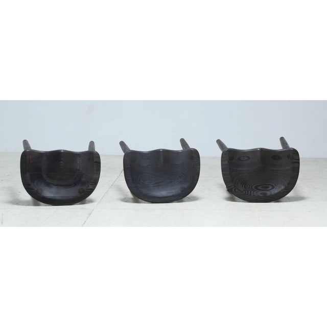 Studio Stools in Blackened Wood by Robert Roakes, USA, 1970s - Image 3 of 6