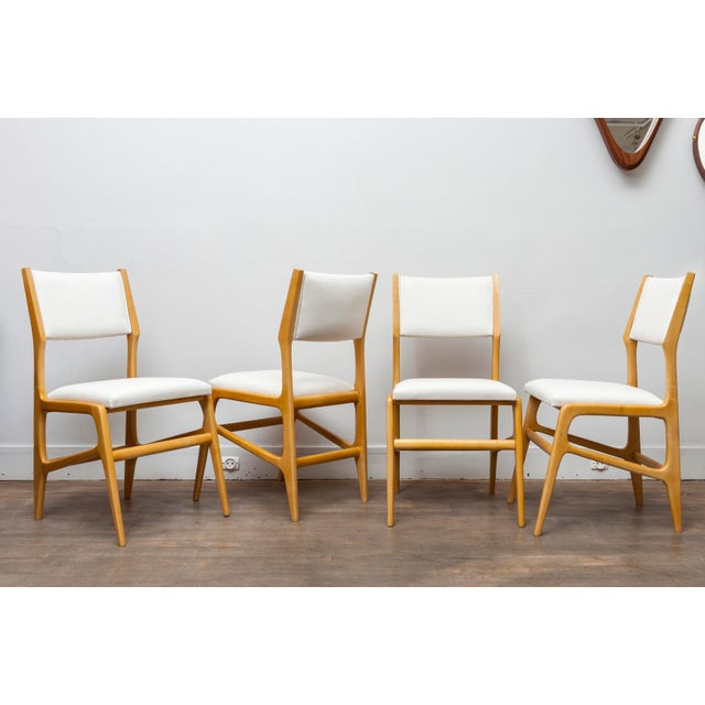Mid-Century Modern Set of 12 Gio Ponti Ash Chairs, Model 687, Italy, 1953 For Sale - Image 3 of 9
