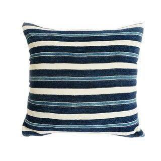 Vintage Indigo Mudcloth Pillow For Sale