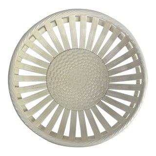 European Creamware Basket For Sale