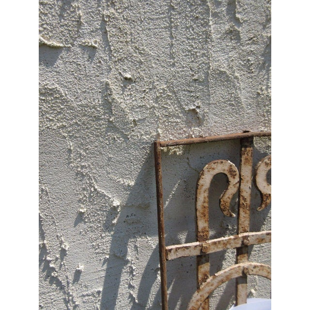 Antique Victorian Iron Gate or Garden Fence For Sale - Image 5 of 5