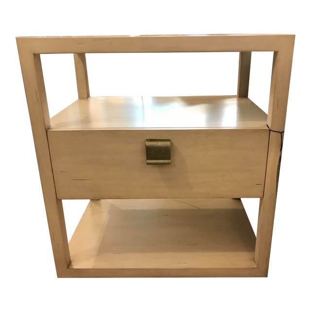 Transitional Century Furniture New Haven One Drawer Side Table For Sale