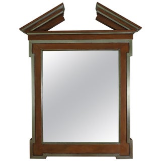 John Hutton for Donghia Broken Pediment Mirror For Sale
