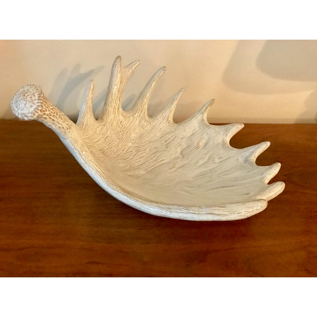 Contemporary Ceramic Antler Decorative Bowl / Sculptural Display Object For Sale - Image 3 of 6