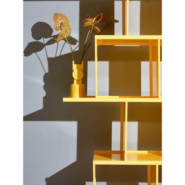 Michael Felix Yellow Powder-Coated Metal Shelves For Sale - Image 9 of 10