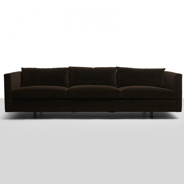 Mid-Century Modern Harvey Probber Chocolate Sofa For Sale - Image 3 of 7