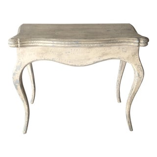 Vintage French Shabby Chic Console / Game Table For Sale