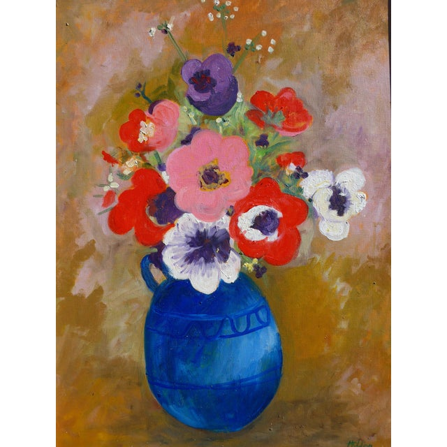 Large - French Bouquet of Flowers, Oil Painting For Sale - Image 12 of 13