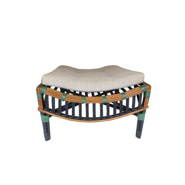 Rare Reed Lounge and Ottoman For Sale - Image 9 of 10
