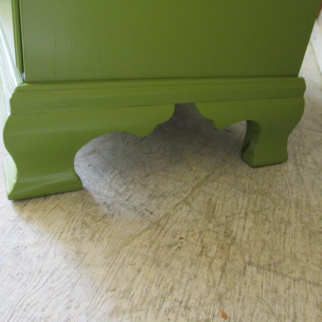 Green 1940s Painted Green Eight Drawer Chest on Chest Dresser For Sale - Image 8 of 10