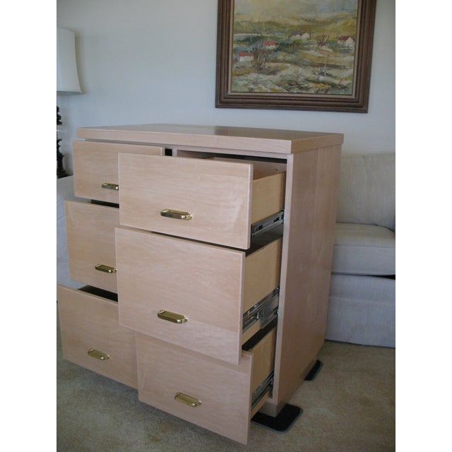 Maple Cabinet & Hutch - Image 5 of 8