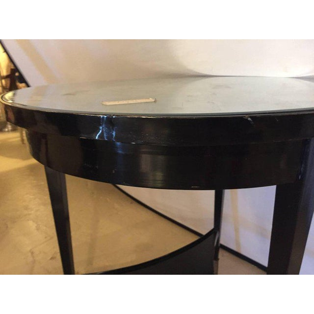 Ebonized Silver Gilt Mirror Top Centre or End Table For Sale In New York - Image 6 of 7