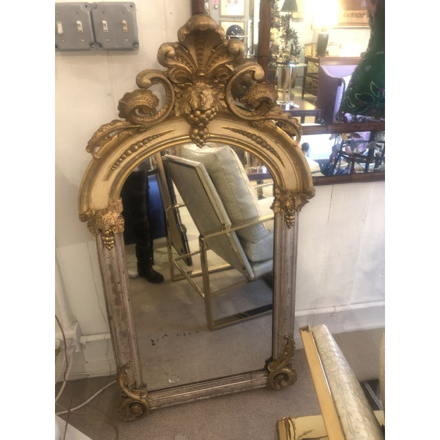 Belle Époque Parcel-Gilt and Lemon Silver Arched Wall Mirror For Sale - Image 13 of 13