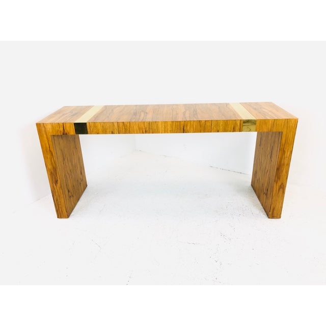 Tan Vintage Console Table by Milo Baughman for Tc For Sale - Image 8 of 10