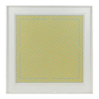1979 Vincent Longo Geometric Abstract Silkscreen Limited Edition Signed Textile Art For Sale