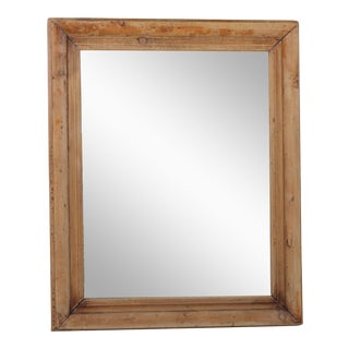 Pine Rustic Wall Mirror For Sale