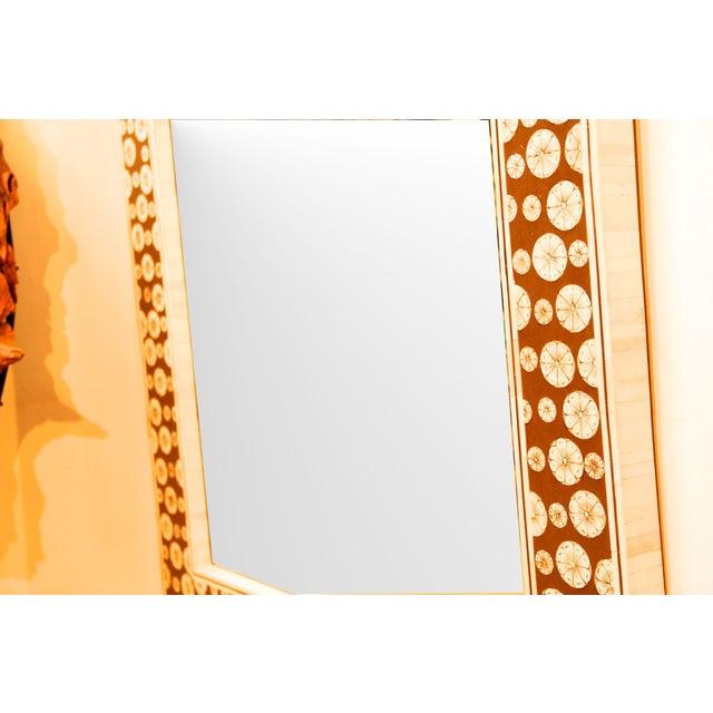 Square Inlaid Bone Mirror - Image 3 of 3