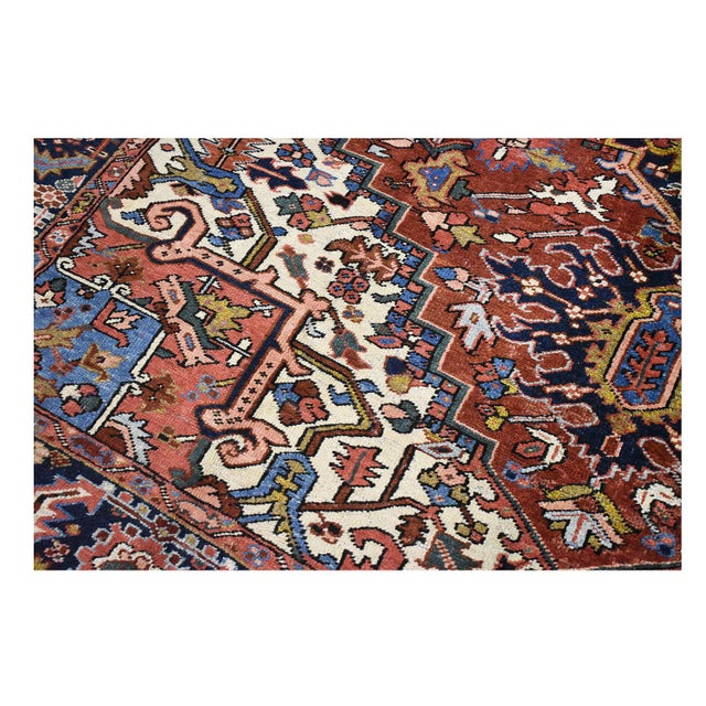 Antique Persian Heriz Rug - 9 x 11.10 - Image 8 of 9