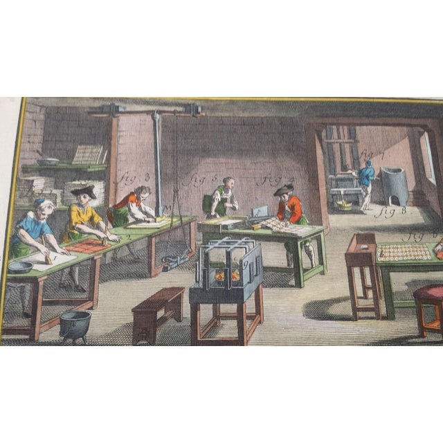 Antique Diderot French Hand-Colored Engraving - Image 4 of 4