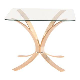 Roger Sprunger for Dunbar Bronze and Glass Side Tables For Sale
