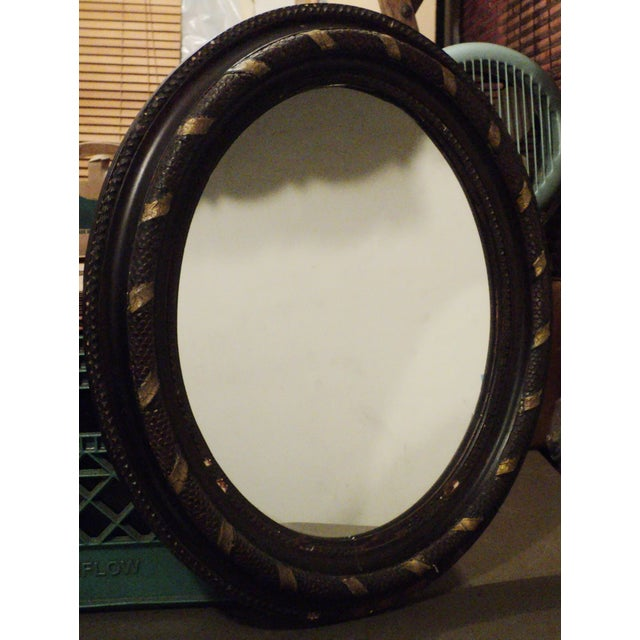 Antique Oval Hanging Mirror - Image 2 of 11