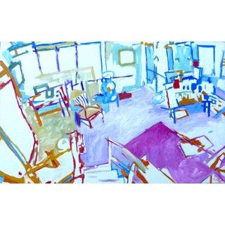 "Modern Oil Painting ""The Artist Studio"" For Sale"