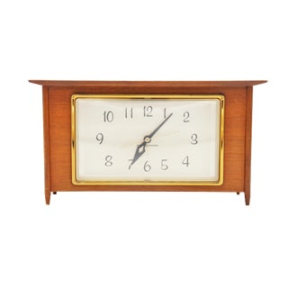 Mid Century Mantel Clock by General Electric For Sale