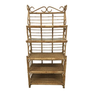 20th Century Bent Rattan Cane Etagere For Sale
