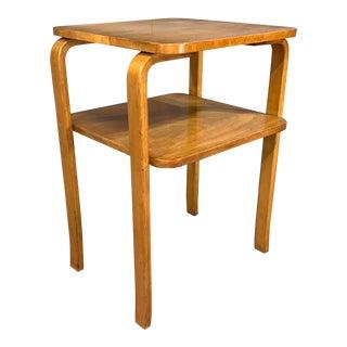 Alvar Aalto 2-Tied Side Table With Shelf for Artek For Sale